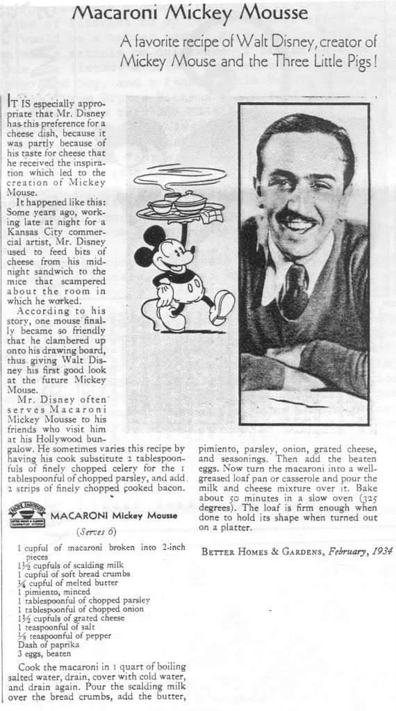 """FRIDAY-GUEST HISTORIAN DAY """"Macaroni Mickey Mousse"""""""