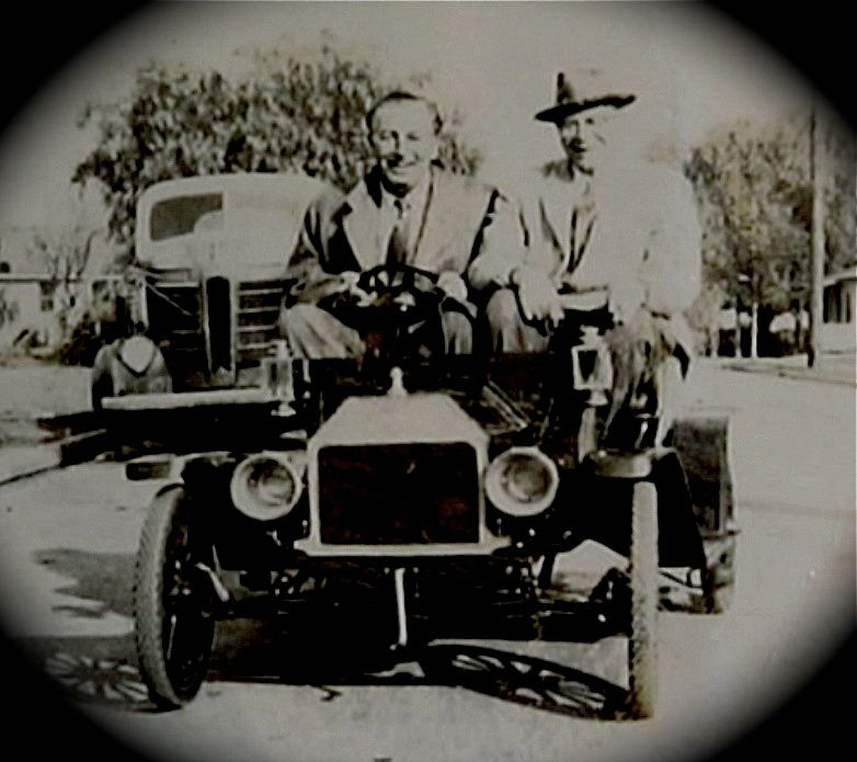 Walt Disney and Joe Fowler at the Arrow Development plant