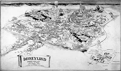 The cartography of disneyland maps disney history institute herbert ryman and walt disney proposal map for disneyland gumiabroncs Choice Image