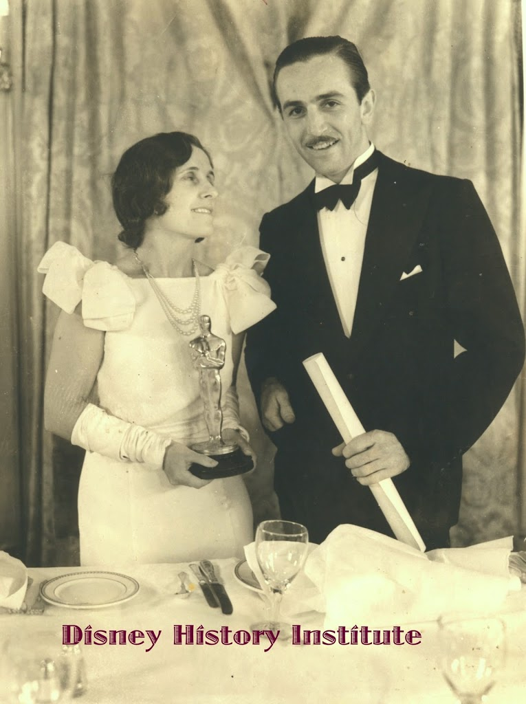 WALT & LILLIAN DISNEY~1932 Academy Awards