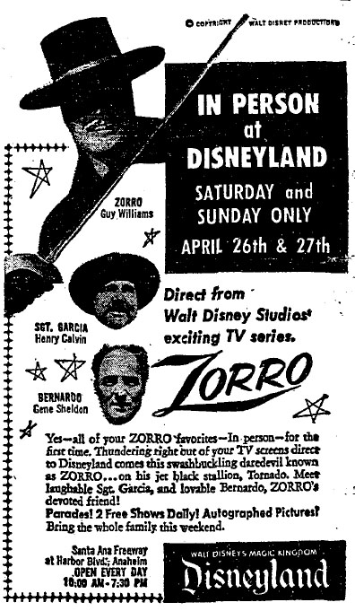 Zorro Days at Disneyland (video)