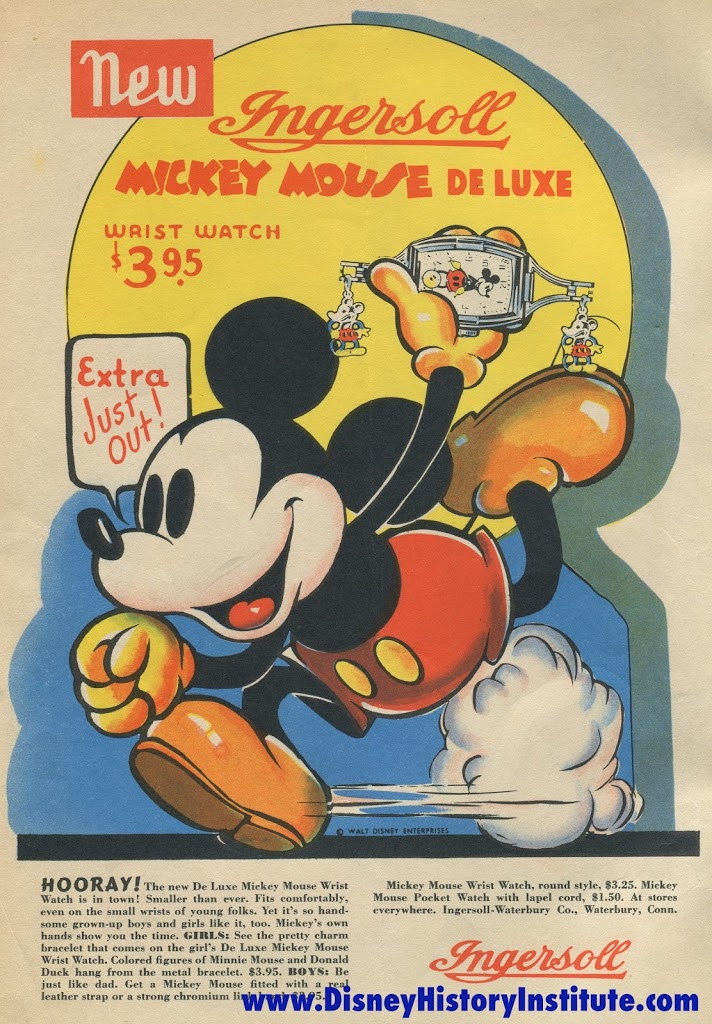 Mickey Mouse Magazine October 1937 Ingersoll Advertisement