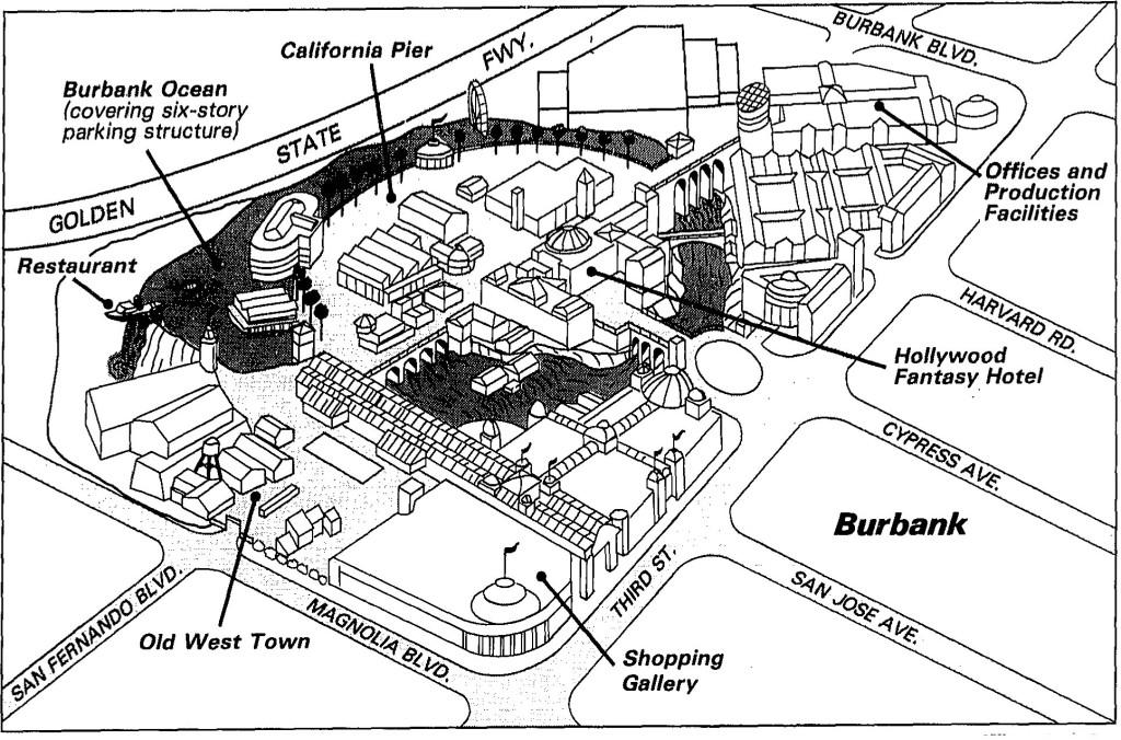 Map of Burbank Disney-MGM Studio Backlog